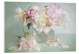 Akrylbillede  still life with peonies - Lizzy Pe