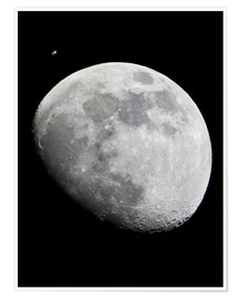 Premium-plakat ISS and the Moon