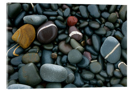 Akrylbillede  Pebbles on a beach - Keith Wheeler