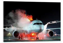 Akrylbillede  De-icing of an Airbus A320 - HADYPHOTO