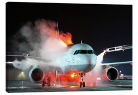 Lærredsbillede  De-icing of an Airbus A320 - HADYPHOTO