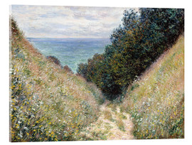 Akrylbillede  Road at La Cavée, Pourville - Claude Monet
