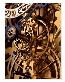 Premium-plakat Internal gears within a clock