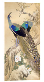 Akrylbillede  Two peacocks in spring - Imao Keinen