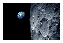 Premium-plakat Earth from lunar orbit