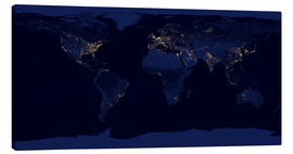 Lærredsbillede  Earth at night - NASA