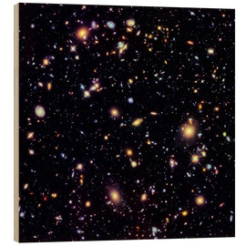 Print på træ  Hubble Extreme Deep Field - NASA