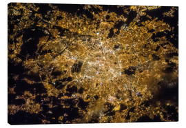 Lærredsbillede  Paris by night from above - NASA