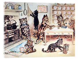 Akrylbillede  The Picture Book of Kittens 13 - Louis Wain
