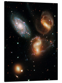 Print på aluminium  Stephan's Quintet galaxies, HST image - NASA