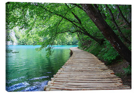 Lærredsbillede  Plitvice Lakes National Park Boardwalk - Renate Knapp