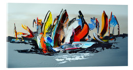Akrylbillede  Abstract sailing - Theheartofart Gena