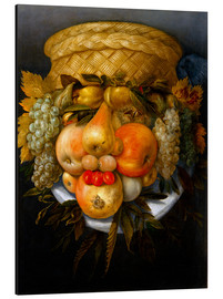 Print på aluminium  Portrait of a man from fruits - Giuseppe Arcimboldo
