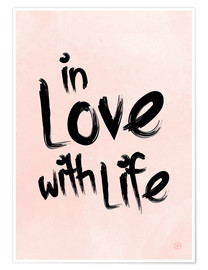 Premium-plakat  in love with life - m.belle