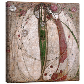 Lærredsbillede  The White Rose And The Red Rose - Margaret MacDonald Mackintosh