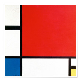 Premium-plakat  Composition with Red, Yellow and Blue - Piet Mondrian