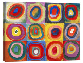 Lærredsbillede  Colour study - squares and concentric rings - Wassily Kandinsky