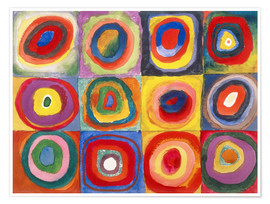 Premium-plakat  Colour study - squares and concentric rings - Wassily Kandinsky