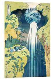 Akrylbillede  The Amida Falls in the Far Reaches of the Kisokaido Road - Katsushika Hokusai