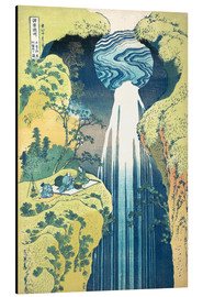 Print på aluminium  The Amida Falls in the Far Reaches of the Kisokaido Road - Katsushika Hokusai