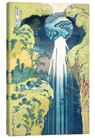 Lærredsbillede  The Amida Falls in the Far Reaches of the Kisokaido Road - Katsushika Hokusai