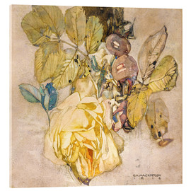 Akrylbillede  Winter Rose - Charles Rennie Mackintosh