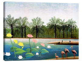 Lærredsbillede  The Flamingoes - Henri Rousseau