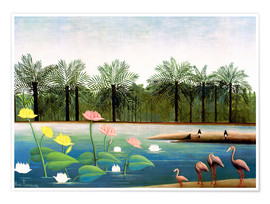 Premium-plakat  The Flamingoes - Henri Rousseau