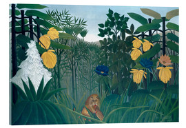 Akrylbillede  The meal of the lion - Henri Rousseau