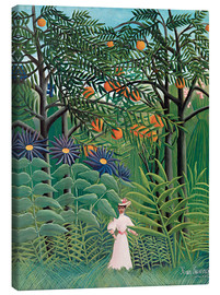 Lærredsbillede  Woman walking in an exotic forest - Henri Rousseau