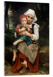 Akrylbillede  Breton Brother and Sister - William Adolphe Bouguereau
