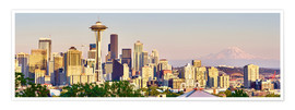 Premium-plakat  Seattle Skyline II - Rainer Mirau