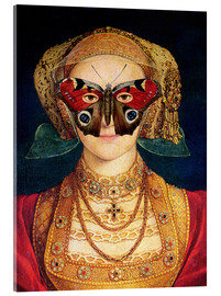 Akrylbillede  The butterfly mask (by Hans Holbein)