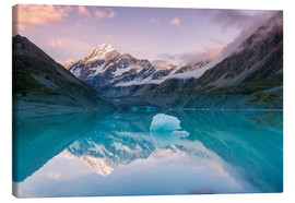 Lærredsbillede  Glacial lake at Mt Cook, New Zealand - Matteo Colombo