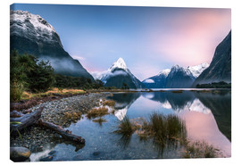 Lærredsbillede  Sunrise at Milford Sound, NZ - Matteo Colombo