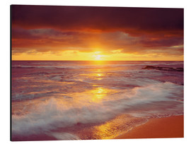Print på aluminium  Sunset on the Pacific - Jaynes Gallery