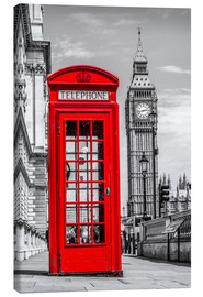 Lærredsbillede  London phone booth - euregiophoto