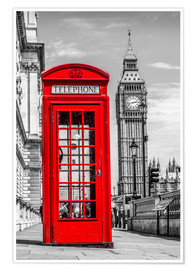 Premium-plakat  London phone booth - euregiophoto
