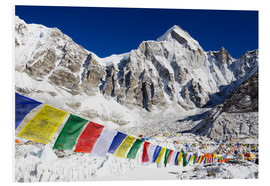 Print på skumplade  Prayer flags at Everest Base Camp - Christian Kober