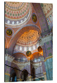 Print på aluminium  Yeni Mosque, Eminonu and Bazaar District, Istanbul, Turkey, Europe - Richard Cummins