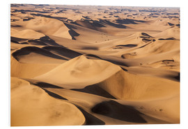 Print på skumplade  Aerial view of the dunes of the Namib Desert, Namibia, Africa - Roberto Sysa Moiola