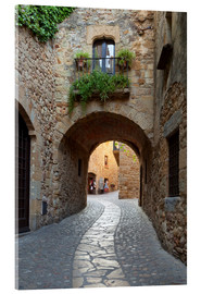 Akrylbillede  Alley in Pals, Catalonia - Stuart Black