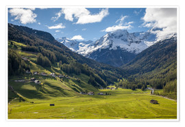 Premium-plakat High mountain valley at Riva di Tures South Tyrol (Italy)