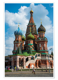 Premium-plakat  St. Basil's Cathedral, Moscow - Michael Runkel