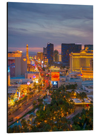 Print på aluminium  The Strip, Las Vegas, Nevada, United States of America, North America - Alan Copson