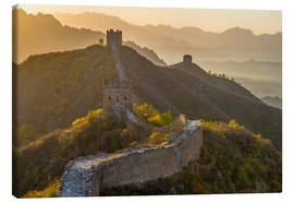 Lærredsbillede  Great Wall of China, UNESCO World Heritage Site, dating from the Ming Dynasty, section looking towar - Alan Copson