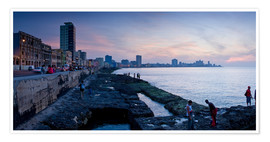 Premium-plakat The Malecon, Havana, Cuba, West Indies, Central America