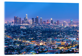 Akrylbillede  Cityscape of the Los Angeles skyline at dusk, Los Angeles, California, United States of America, Nor - Chris Hepburn