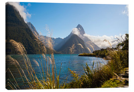 Lærredsbillede  Mitre Peak, Milford Sound - Matthew Williams-Ellis