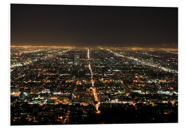 Print på skumplade  Los Angeles at night - Wendy Connett
